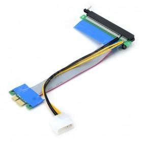 Kabel Ekstensi PCI-E 1x ke 16x dengan Konektor Power Molex for Bitcoin Miner - 3
