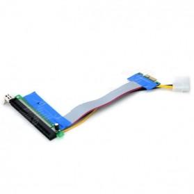 Kabel Ekstensi PCI-E 1x ke 16x dengan Konektor Power Molex for Bitcoin Miner - 4