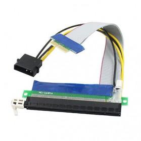 Kabel Ekstensi PCI-E 1x ke 16x dengan Konektor Power Molex for Bitcoin Miner - 5