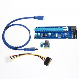 PCI-E Riser 1x to 16x SATA Power USB 3.0 60cm for Bitcoin Miner