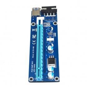 PCI-E Riser 1x to 16x SATA Power USB 3.0 60cm for Bitcoin Miner - 4