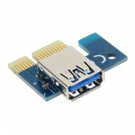 PCI-E Riser 1x to 16x SATA Power USB 3.0 60cm for Bitcoin Miner - 6