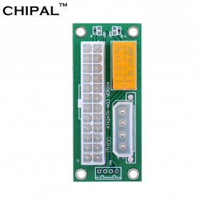 CHIPAL ATX Molex Power Supply 24PIN to 4PIN Dual PSU for Bitcoin Miner