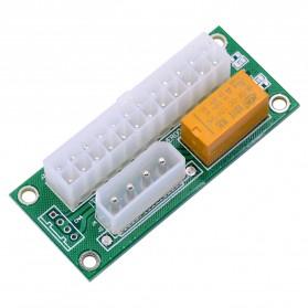 CHIPAL ATX Molex Power Supply 24PIN to 4PIN Dual PSU for Bitcoin Miner - 6