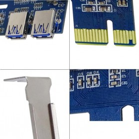 PCI-E Expansion Card Riser to 4 USB 3.0 for Bitcoin Miner EM88 - 2