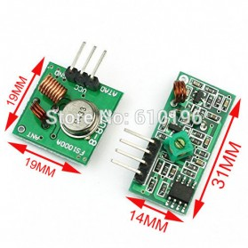 Module Wireless Transmitter and Receiver 433MHz for Arduino Raspberry Pi - 5