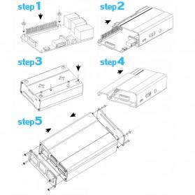 Aluminium Case for Raspberry Pi 3 Model B+ - V2 - Black - 8