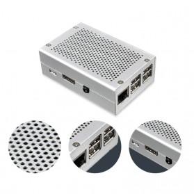 Aluminium Case for Raspberry Pi 3 Model B+ - Silver - 2
