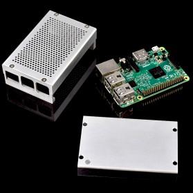 Aluminium Case for Raspberry Pi 3 Model B+ - Silver - 7