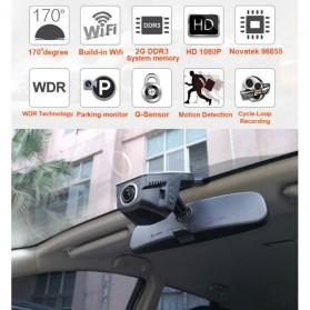 Dash Cam Kamera DVR Mobil WIFI Wide Angel 170 Degre 1080P - V24 - Black - 4