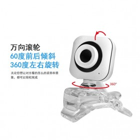 Bejoy Webcam Desktop Laptop Video Conference 360 Degree 480P - Q360 - White - 3