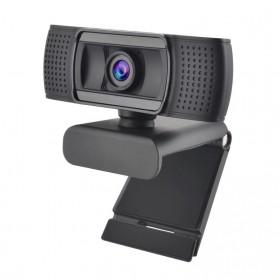 ASHU HD Webcam Desktop PC Laptop Video Conference 1080P with Microphone - H601 - Black