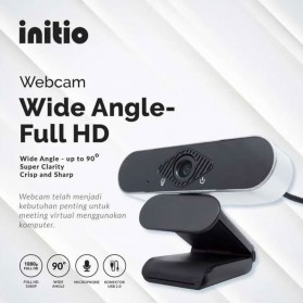 Initio FHD Webcam Desktop PC Laptop Video Conference 1080P with Microphone - USB-305 - Silver