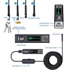 DDCAMERA Kamera Endoscope Wireless Waterproof HD - AN100A - Black - 9