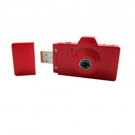 Eazzzy Mini USB Digital Camera 2MP - Red