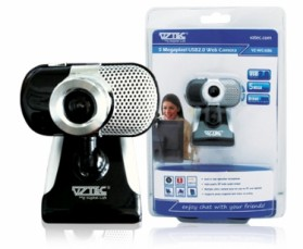 VZTEC USB 2.0 - 5 Mega Pixel Webcam Model (VZ-WC1686) - Black