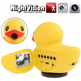 Rubber Duck Car DVR 1080P 1.5 inch LCD Screen - Yellow