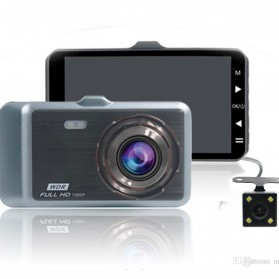Baco Car DVR Kamera Mobil 1296P with Rear View Camera - GT500 - Black - 4