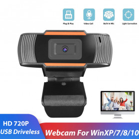 Webcam Komputer - BACO HD Webcam Desktop Laptop with Microphone Video Conference 720P - U801 - Black