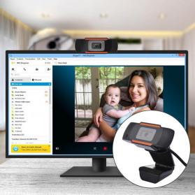BACO HD Webcam Desktop Laptop with Microphone Video Conference 720P - U801 - Black - 10