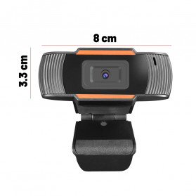 BACO HD Webcam Desktop Laptop with Microphone Video Conference 720P - U801 - Black - 5