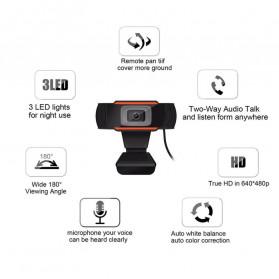 BACO HD Webcam Desktop Laptop with Microphone Video Conference 720P - U801 - Black - 8
