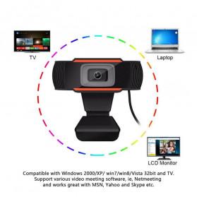 BACO HD Webcam Desktop Laptop with Microphone Video Conference 720P - U801 - Black - 9