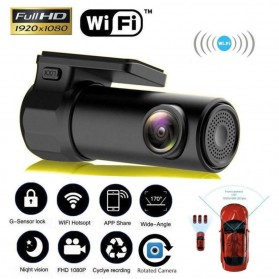 Kamera Mobil - BACO Kamera Mobil Car DVR Dash Cam 1080P WIFI - S600 - Black