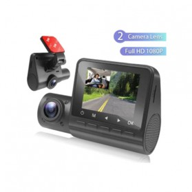 Kamera Mobil - Baco Car DVR DashCam Dual Kamera Dashboard Mobil 1080P - M1 - Black