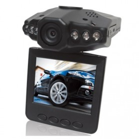 Baco Car DVR Camcorder Full HD 720P 2.5 Inch LCD Screen with 6 IR LED Night Vision - H186 - Black