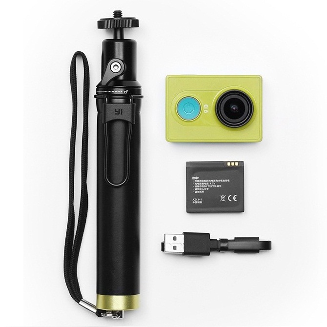 paket xiaomi yi action camera xiaomi yi selfie stick monopod with bluetooth remote green. Black Bedroom Furniture Sets. Home Design Ideas