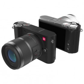 Xiaomi Yi M1 Mirrorless Digital Camera 12-40mm F3.5-5.6 Lens & 42.5mm F1.8 Lens - Black