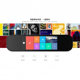 Xiaomi Mijia Smart Rearview Mirror Kaca Spion Kamera DVR 1080P - ZNHSJ01BY - Black - 2