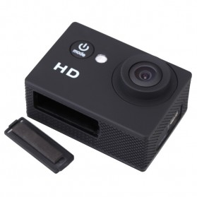 Action Camera A7 Waterproof 1080P Wide Angle Layar LCD - Black - 6