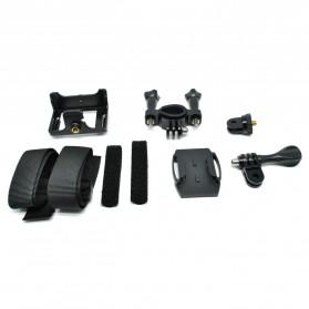 Action Camera A7 Waterproof 1080P Wide Angle Layar LCD - Black - 11