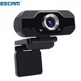 ESCAM HD Webcam Desktop Laptop with Microphone Video Conference 2MP 1080P - PVR006 - Black - 2