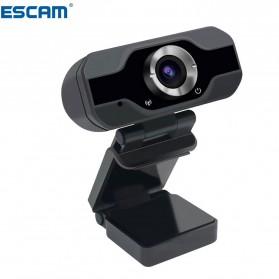 ESCAM HD Webcam Desktop Laptop with Microphone Video Conference 2MP 1080P - PVR006 - Black - 3