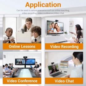 ESCAM HD Webcam Desktop Laptop with Microphone Video Conference 2MP 1080P - PVR006 - Black - 6