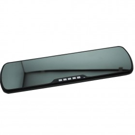 Rear View Mirror Digital Video Car Recorder with Dual Lens Full HD 1080P 4.3 Inch - P660 - Black