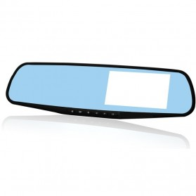 Ultra High HD Rear View Mirror Digital Video Car Recorder 1080P 4.3 Inch - Black