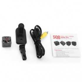 SQ8 Mini DV Camera 1080P Full HD Car DVR Aluminium - Black - 7