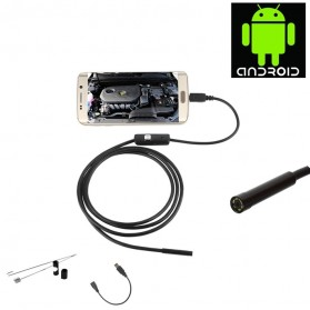 Android 8mm 4cm Focal Distance Endoscope Camera 720P 3.5M IP67 Waterproof - Black