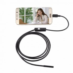 Android 7mm 4cm Focal Distance Endoscope Camera 720P 2M IP67 Waterproof - Black - 2