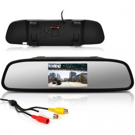 Kaca Spion Rear View Mirror Digital Video Car Recorder 480P 4.3 Inch - Black - 1