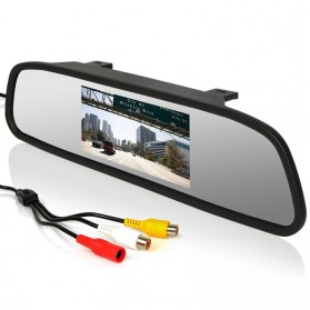 Kaca Spion Rear View Mirror Digital Video Car Recorder 480P 4.3 Inch - Black - 3