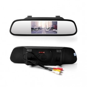 Kaca Spion Rear View Mirror Digital Video Car Recorder 480P 4.3 Inch - Black - 5