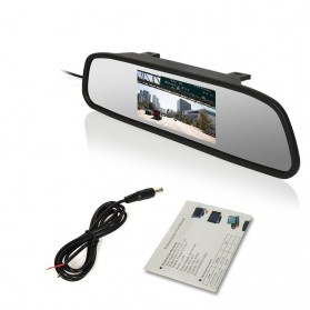 Kaca Spion Rear View Mirror Digital Video Car Recorder 480P 4.3 Inch - Black - 6