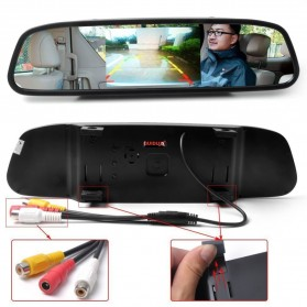 Kaca Spion Rear View Mirror Digital Video Car Recorder 480P 4.3 Inch - Black - 7