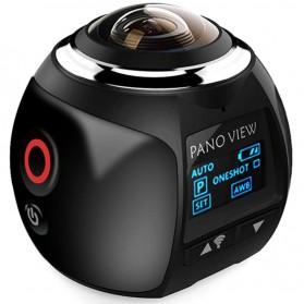 V1 360 WiFi Mini Panoramic Action Camera 4K - Black
