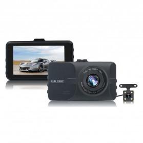 Kamera DVR Mobil Depan Belakang Wide Angle 1080P - A6 - Black
